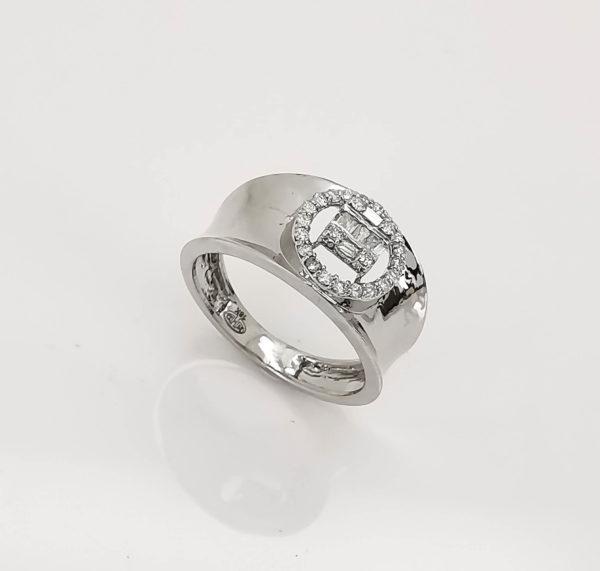 خاتم الماس ذهب ابيض
