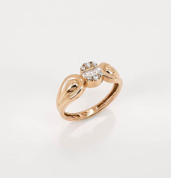 خاتم ذهب روز موديل الماس